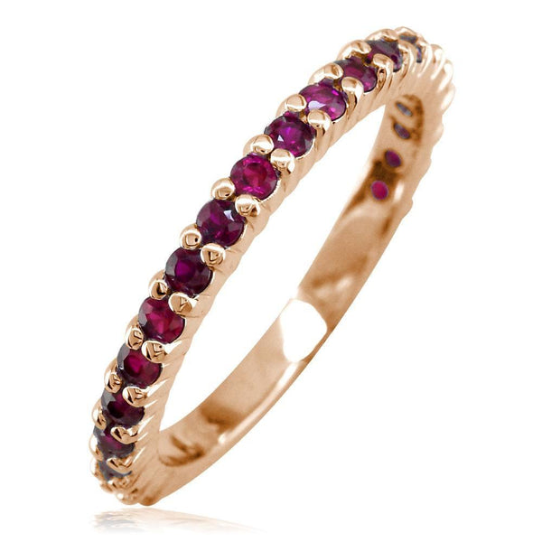 Ruby Band, 0.70CT in 14k Pink, Rose Gold