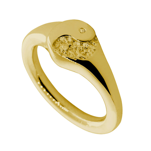 Yin Yang Ring, 8mm in 14k Yellow Gold
