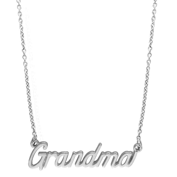 "Grandma Necklace in Sterling Silver, 19.5"" Total Length"