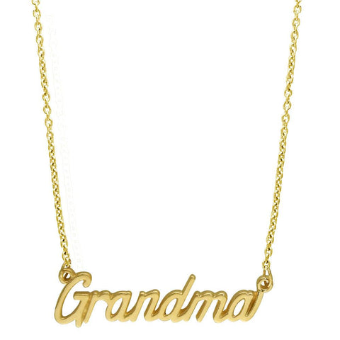 "Grandma Necklace in 14K Yellow Gold, 19.5"" Total Length"