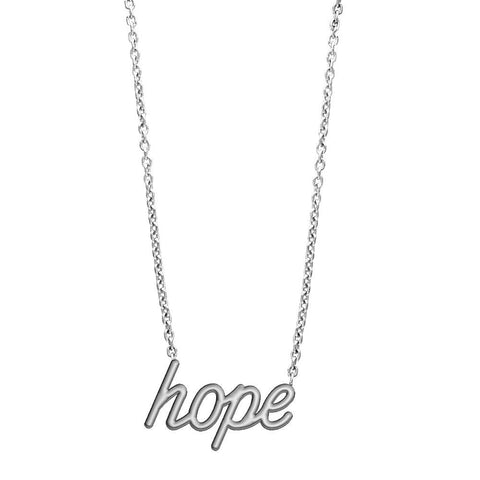 Hope Necklace in 14K White Gold