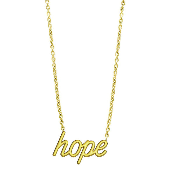 Hope Necklace in 14K Yellow Gold