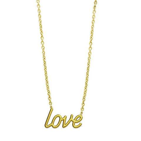 Love Necklace in 14K Yellow Gold