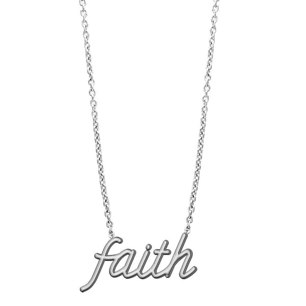 Faith Necklace in 14K White Gold