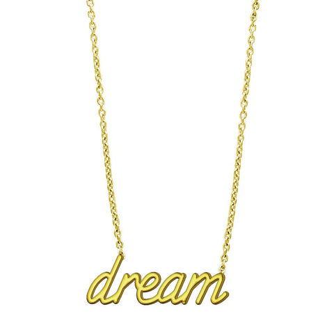 "Dream Necklace in 14K Yellow Gold, 17"" Total Length"