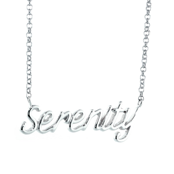 Serenity Necklace in 14k White Gold
