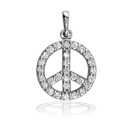 Small Diamond Peace Sign, Borderless P-0427