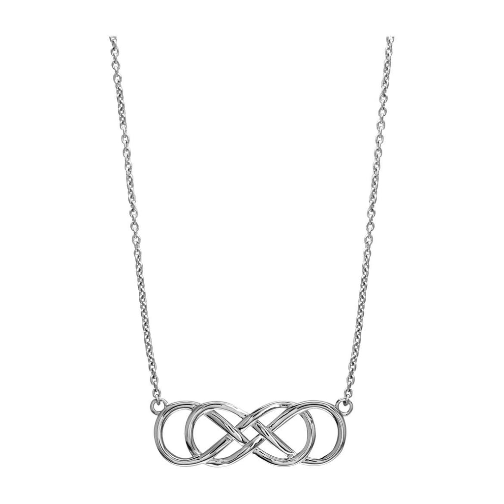 Large double infinity symbol charm and chain best friends forever 1 buycottarizona