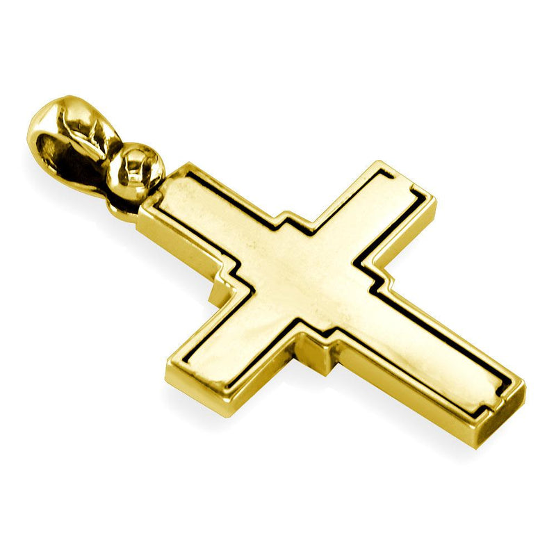 Large Diamond Cross Pendant, 2.75CT in 18K yellow gold