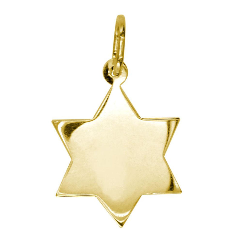 Small Diamond Star of David, Jewish Star Pendant, 0.44CT in 18K Yellow gold