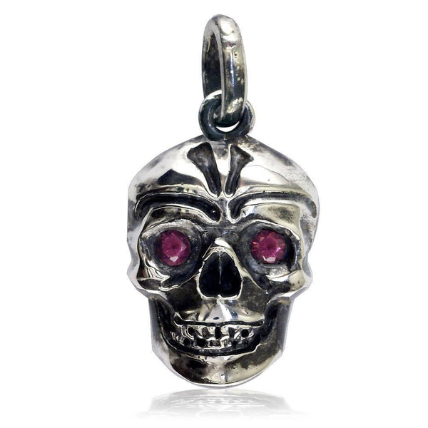 Pendants and charms jewelry by sziro serving south florida and large blackened sterling silver skull pendant with garnet eyes mozeypictures Image collections