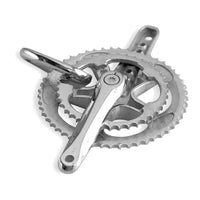 Extra Large Bicycle Crank Pendant with Cubic Zirconias, Bike Sprocket Wheel in 18k White Gold