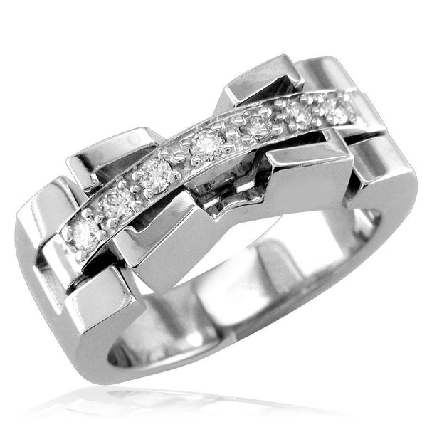 Contemporary Diamond Ring LR-Z1089