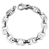 Large Link Bracelet in Sterling Silver