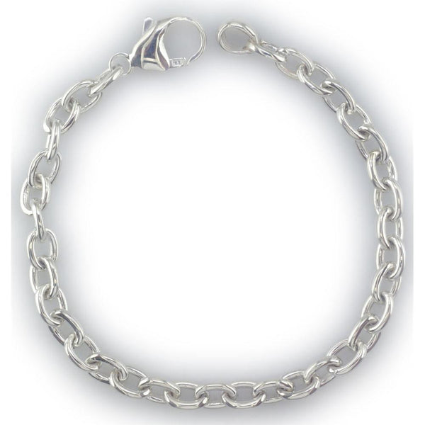 Small Oval Link Sterling Silver Bracelet
