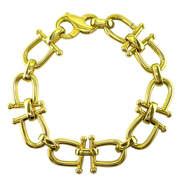 Open Bar Link Bracelet in 14k Yellow Gold