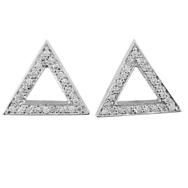 Open Diamond Triangle Earrings