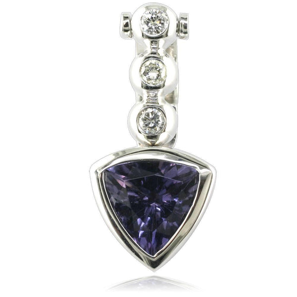Diamond and Amethyst Triangle Pendant P-Z2154