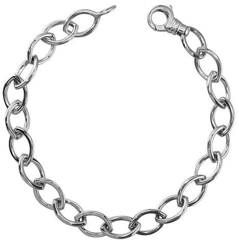 7 Inch Marquise Link Ladies Bracelet in Sterling Silver