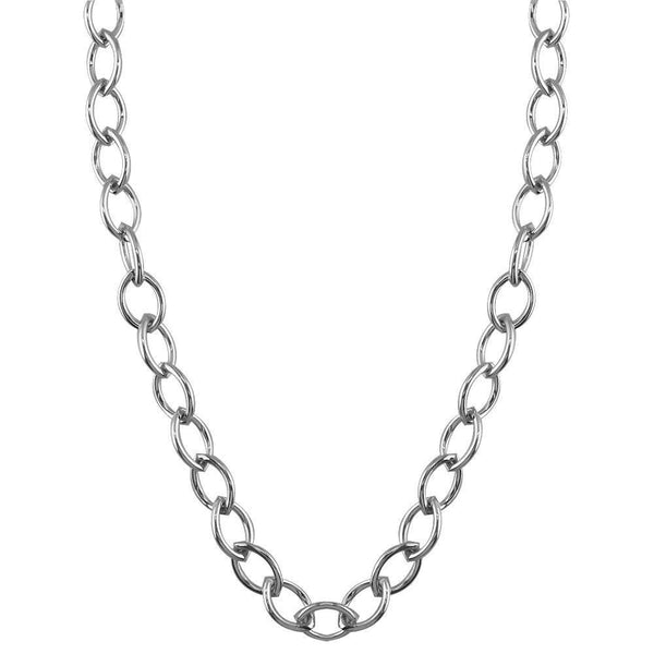 Marquise Link Chain in Sterling Silver, 22""