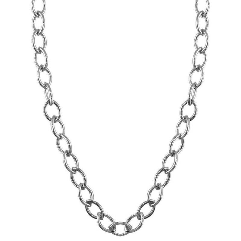 Marquise Link Chain in 14K White Gold, 24""