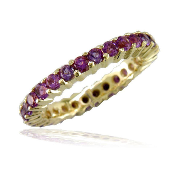 Amethyst Eternity Band in 18K, 1.30CT