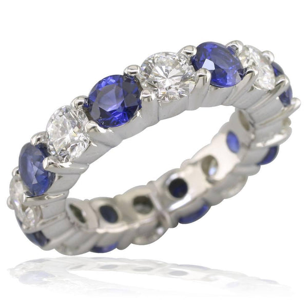 Diamond and Sapphire Eternity Band LR-Z2392