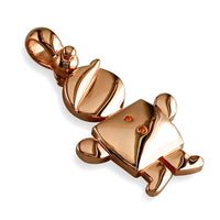 Large Belly Kids Sziro Boy 14k Pink Gold Charm for Mom, Grandma