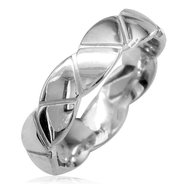 Triangle Eternity Ring in Sterling Silver