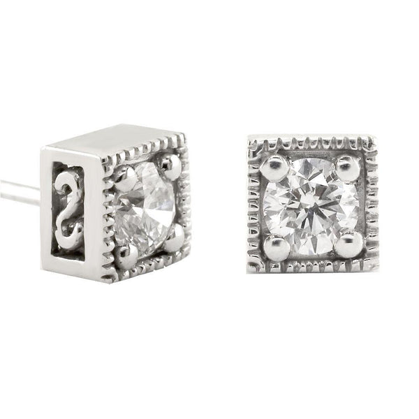 Diamond Earrings, 0.50CT Total in 18K