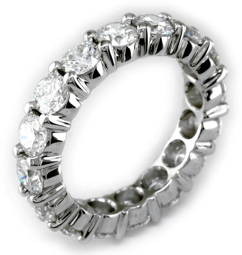Round Diamonds Eternity Band in Platinum, 3.26CT