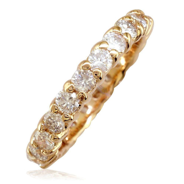 Round Diamonds Eternity Band in 14K Pink Gold, 1.80CT