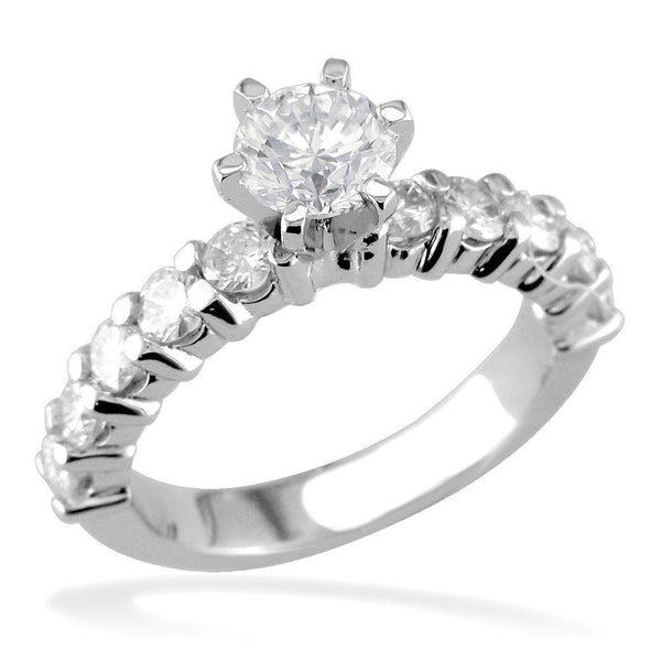 Diamond Engagement Ring in Half Eternity Style E/W-Z2621E