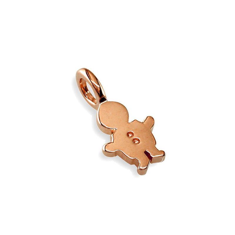 Classic Kids Mini Sziro Boy Charm for Mom, Grandma in 14k Pink Gold