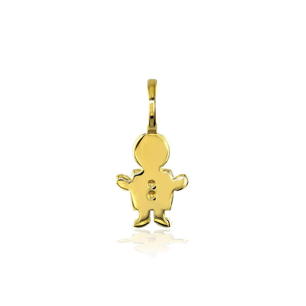 Classic Kids Mini Sziro Boy Charm for Mom, Grandma in 18k Yellow Gold