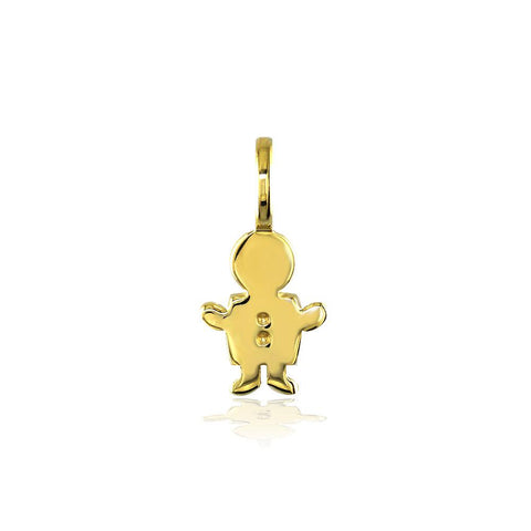 Classic Kids Mini Sziro Boy Charm for Mom, Grandma in 14k Yellow Gold