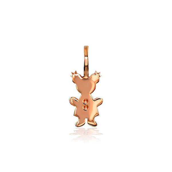 Classic Kids Mini Sziro Girl Charm for Mom, Grandma in 18k Pink Gold