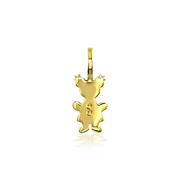 Classic Kids Mini Sziro Girl Charm for Mom, Grandma in 14k Yellow Gold