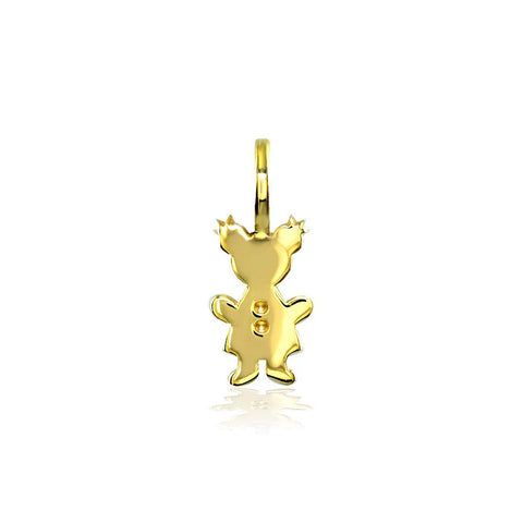 Classic Kids Mini Sziro Girl Charm for Mom, Grandma in 18k Yellow Gold