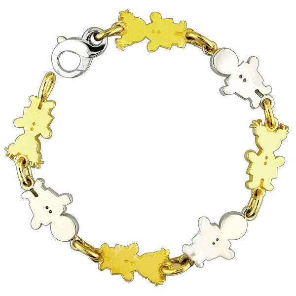 Medium Classic Kids Sziro Boy and Girl Charm Bracelet