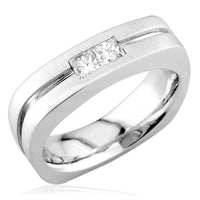 Square Shape Diamond Band in 18K