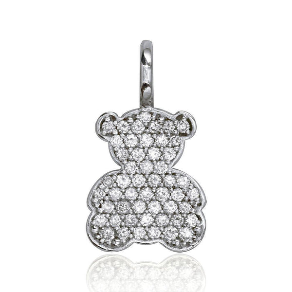 18K White Gold Diamond Sziro Bear