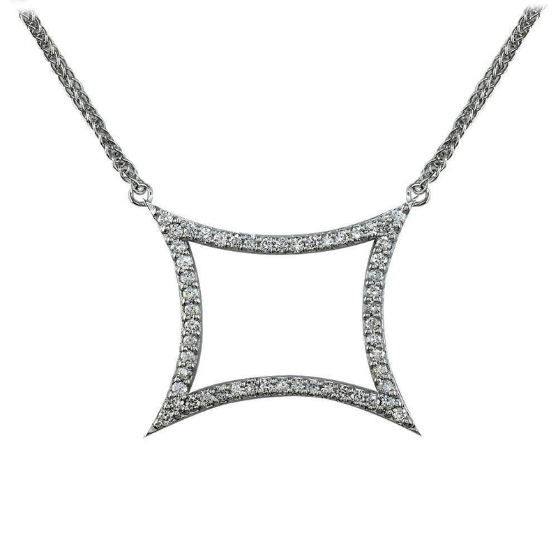 Large Diamond Pendant with Pointed Corners