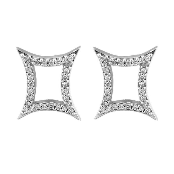 Diamond Earrings, 0.60CT in 18k White Gold