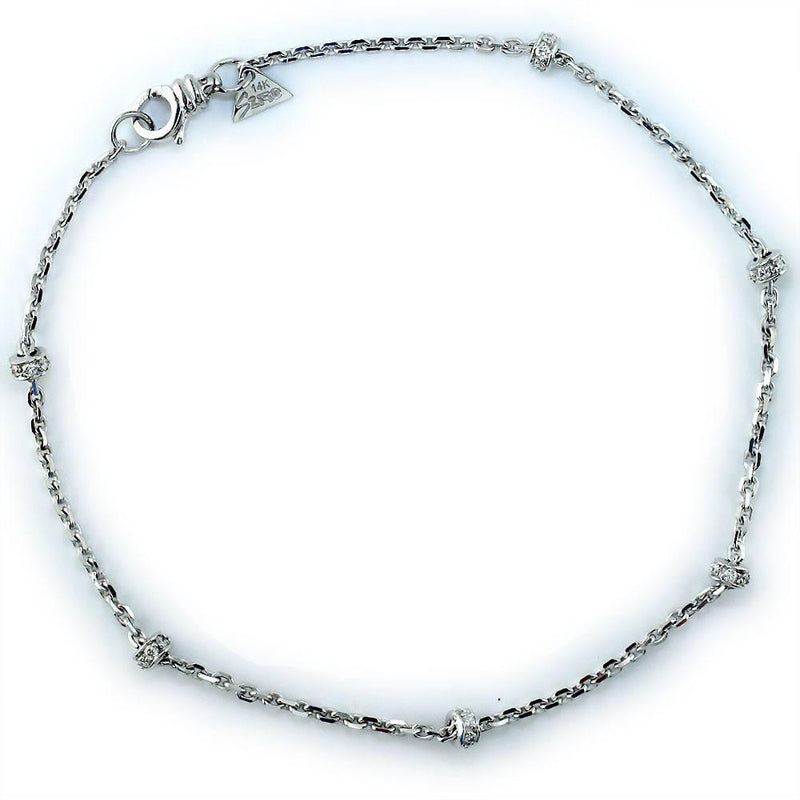 Diamond Roundell Anklet in 14K, 0.60CT