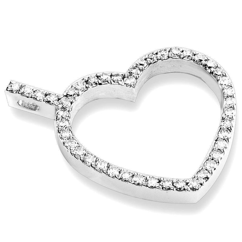 Big Chubby Diamond Heart Pendant in 18K