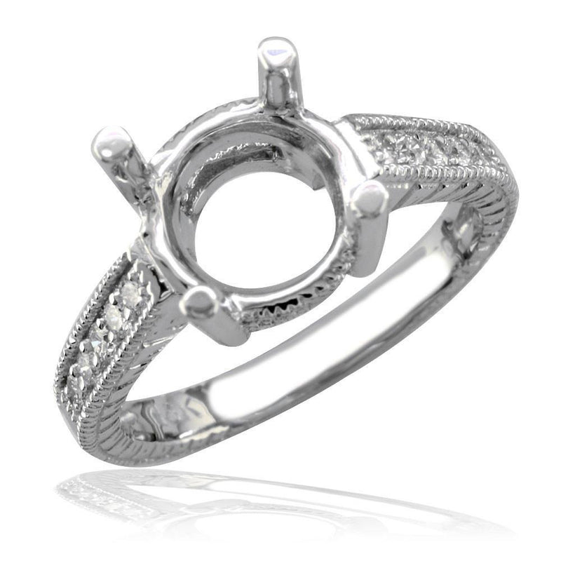Diamond Engagement Ring Setting, 0.20CT in 18k White Gold