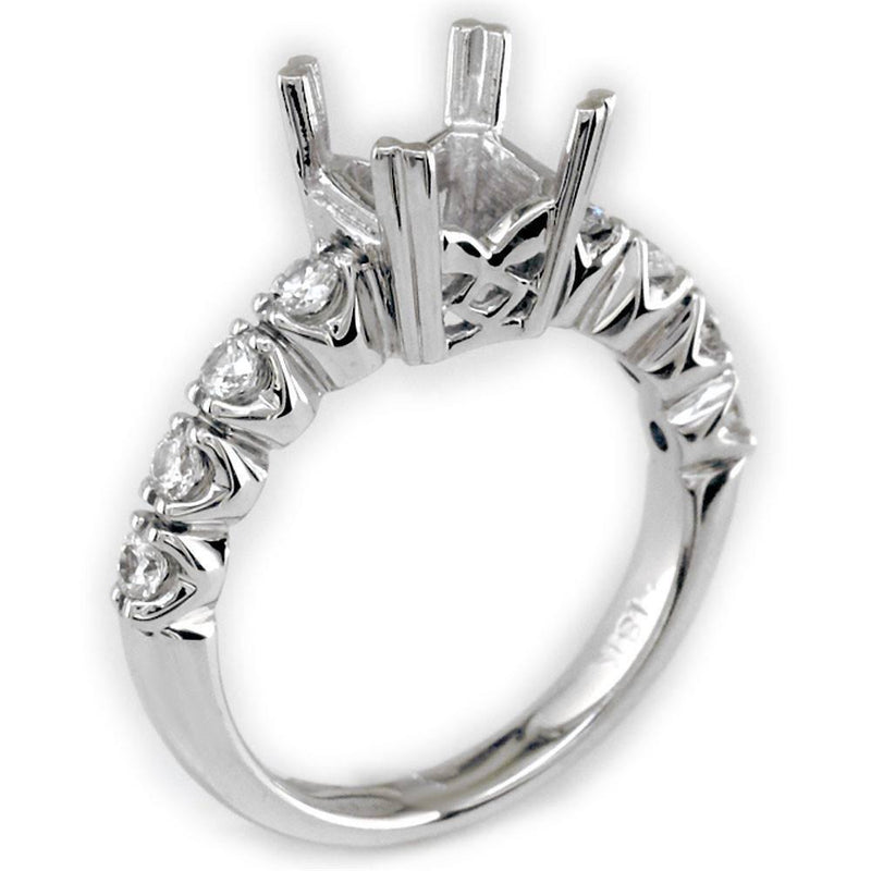 Diamond Engagement Ring Setting, 0.40CT in 18k White Gold