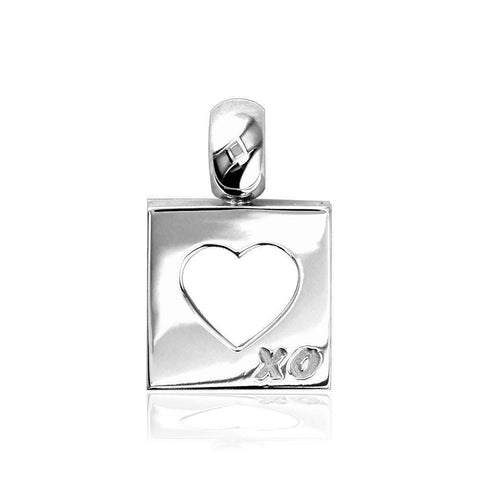 Open Heart in Square Charm