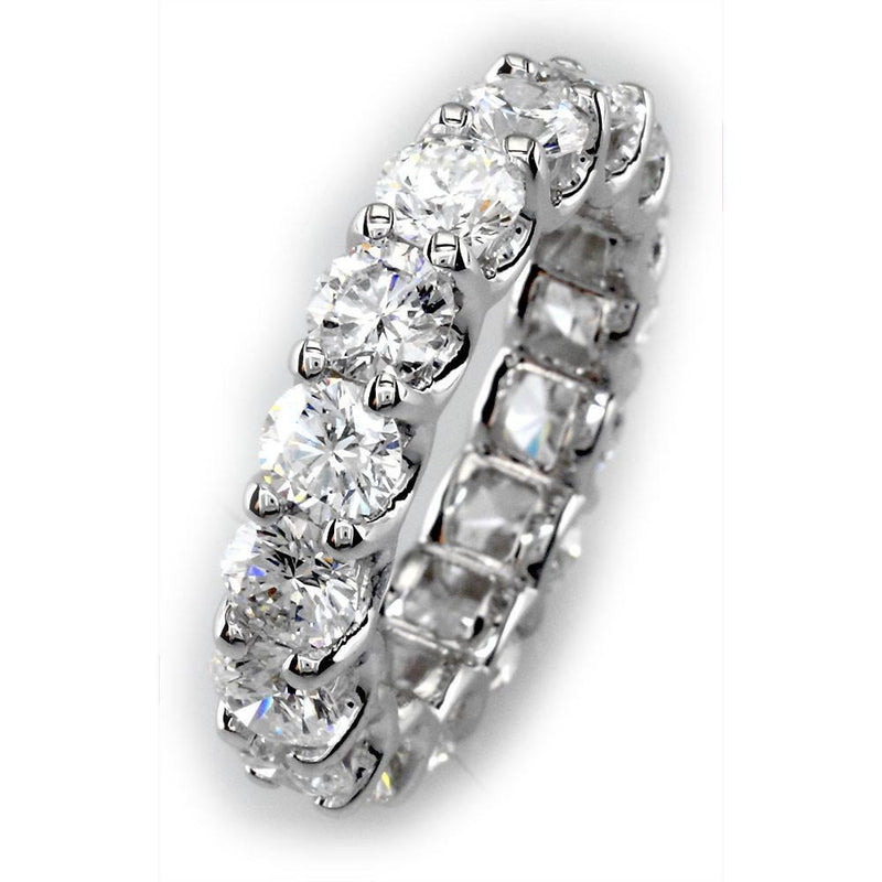 Round Diamonds Eternity Band in 18K, 4.0CT